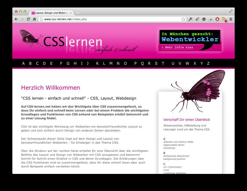 Screenshot CSS lernen