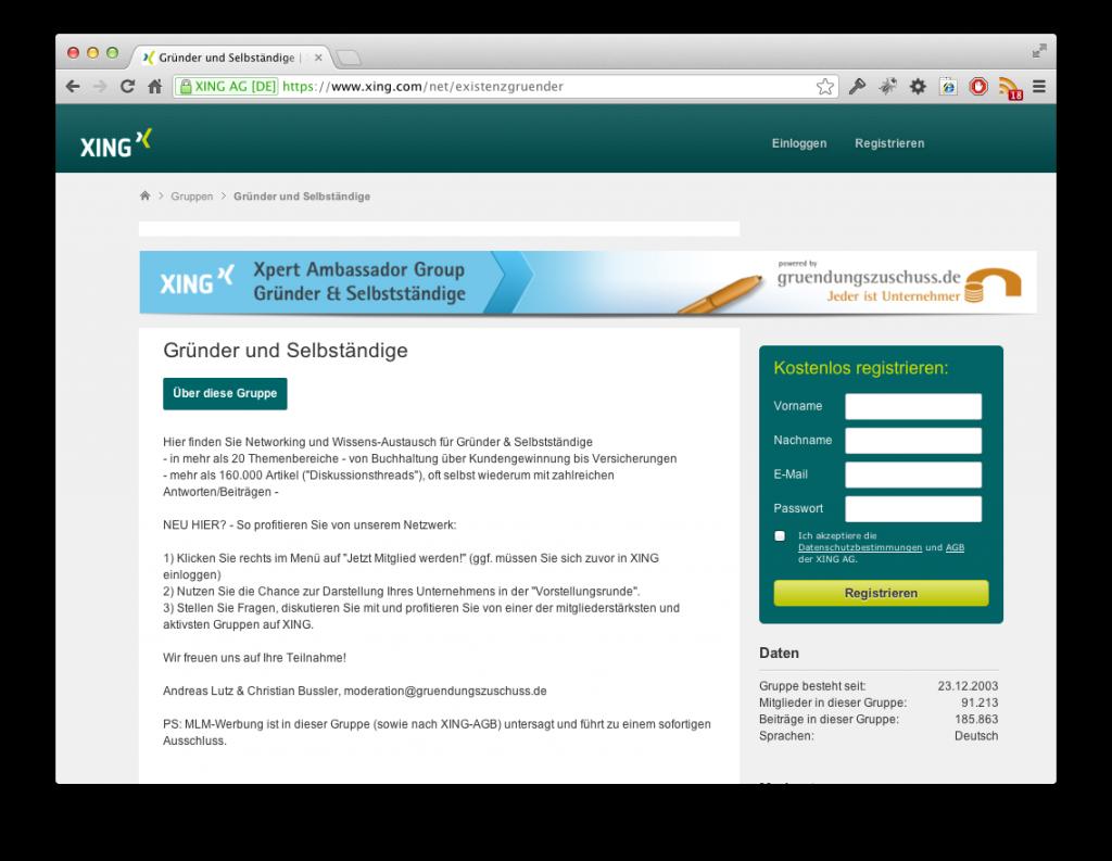 Screenshot Steuerberater Gesucht