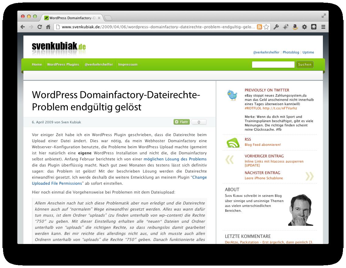 Screenshot dF & die Dateirechte
