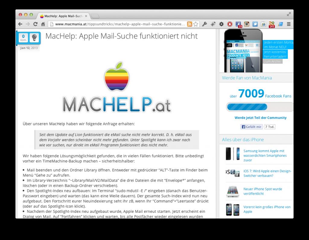 Screenshop Neuen Index erzwingen