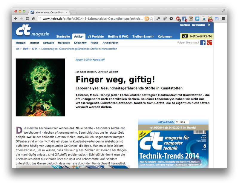 screenshot Gift in Kunststoffen