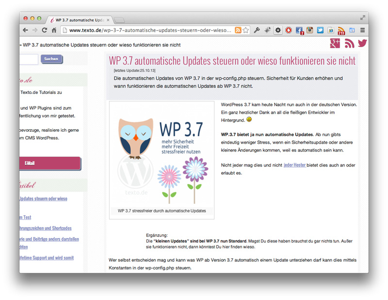 Screenshot WP AutoUpdate