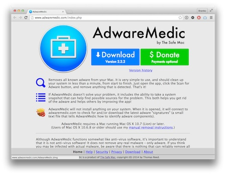 Screenshot Adware Medic
