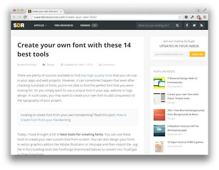 Screenshot DIY TrueType Fonts